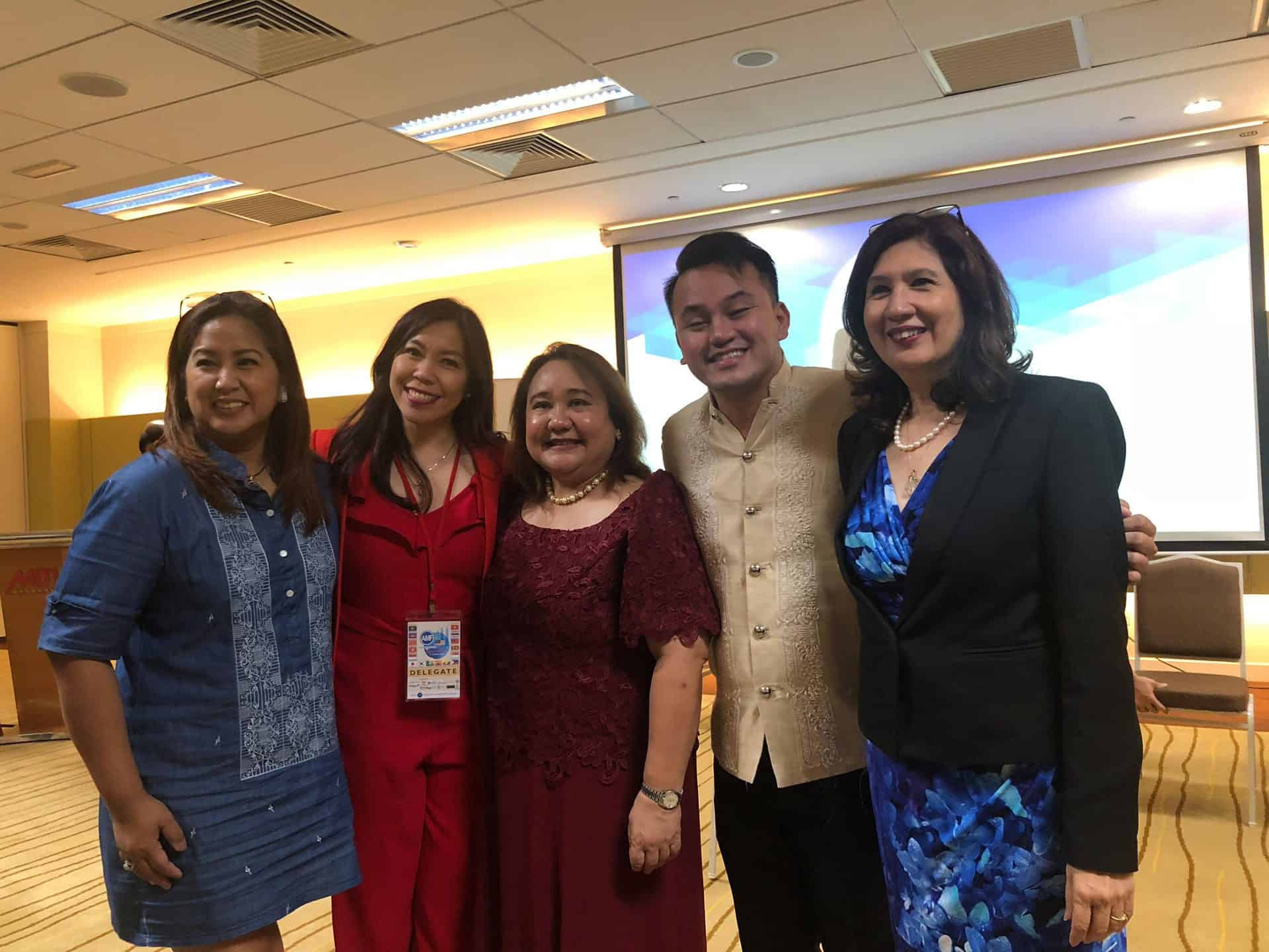 Margot Torres and Ralph Layco with Arlene Padua, Faith Abano and Gwen Albarracin