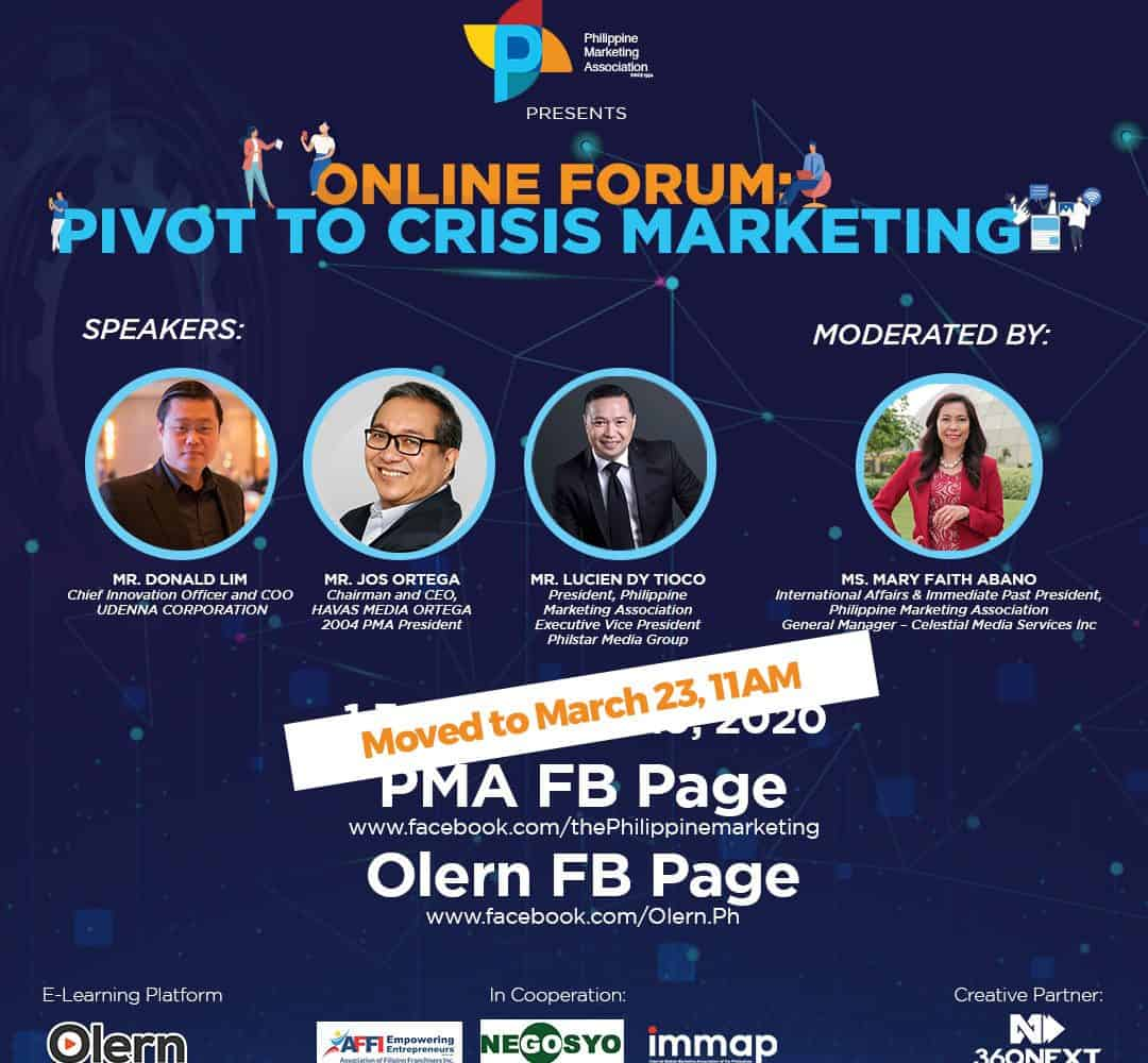FIRST ONLINE PUBLIC FORUM: Pivot to Crisis Marketing