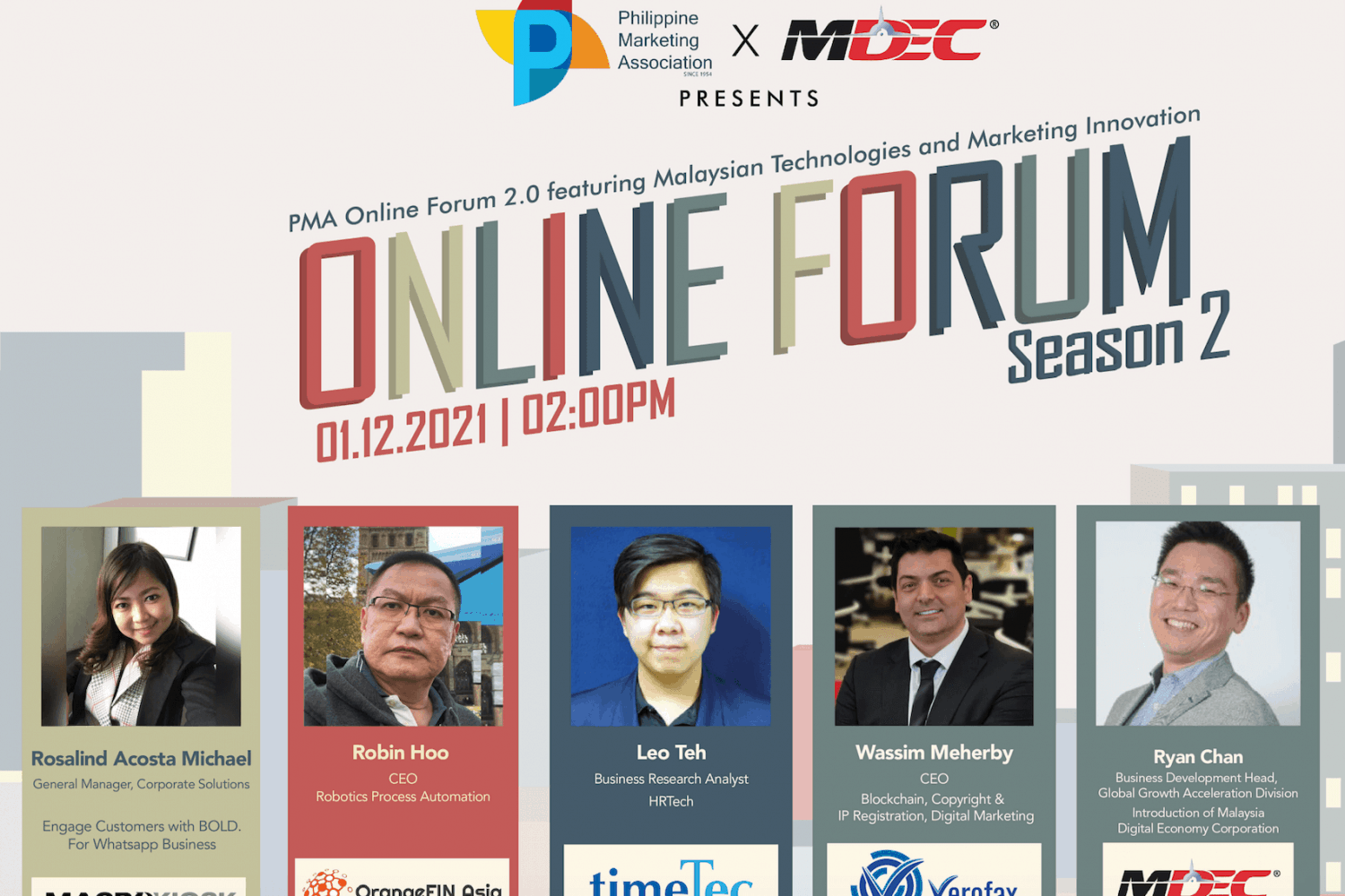 PMA Online Forum Season 2 in partnership with MDEC